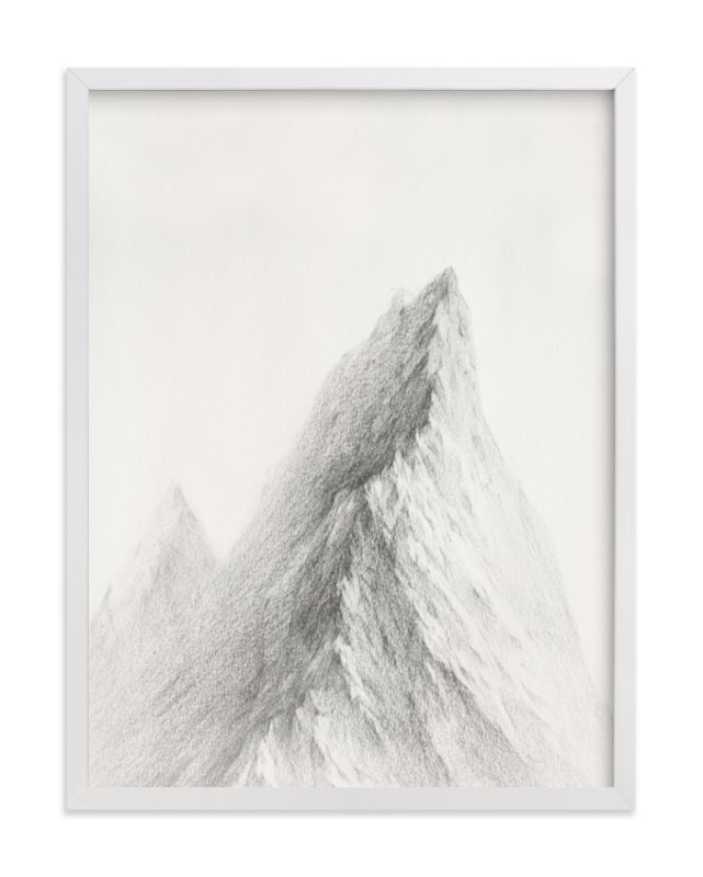 """Mt. Winterfell"" - Limited Edition Art Print by jinseikou in beautiful frame options and a variety of sizes."