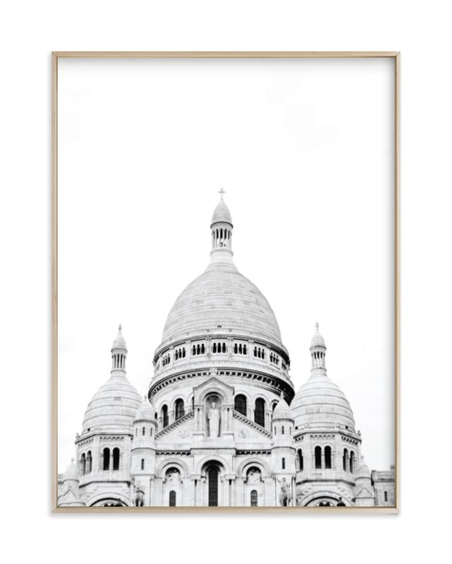 """Looking Over Montmartre"" - Limited Edition Art Print by Wildfield Paper Co. in beautiful frame options and a variety of sizes."