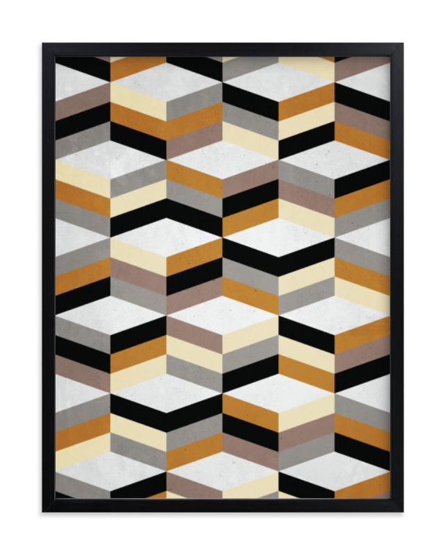"""""""MCMcube"""" - Limited Edition Art Print by Three Kisses Studio in beautiful frame options and a variety of sizes."""