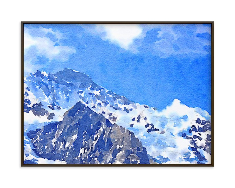 """Jungfrau"" - Limited Edition Art Print by Teng Wang in beautiful frame options and a variety of sizes."