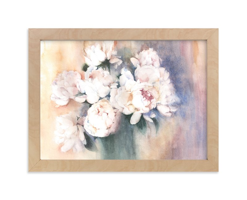 """""""white peonies"""" - Limited Edition Art Print by XL in beautiful frame options and a variety of sizes."""