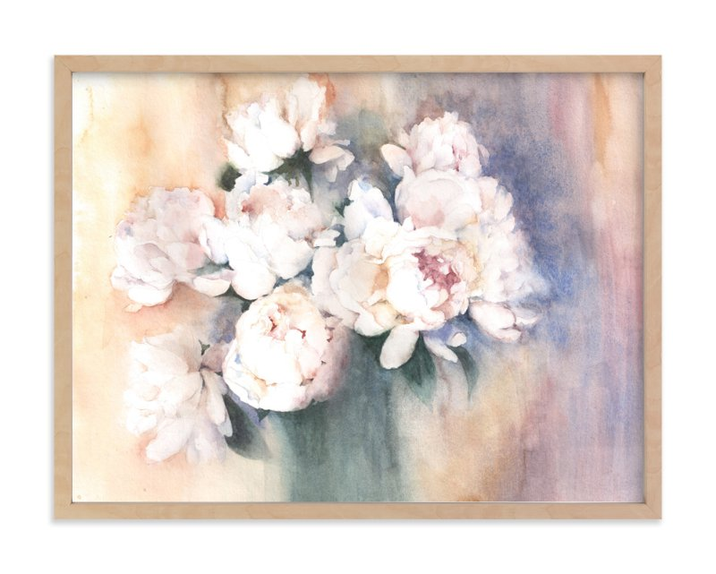 """white peonies"" - Limited Edition Art Print by XL in beautiful frame options and a variety of sizes."