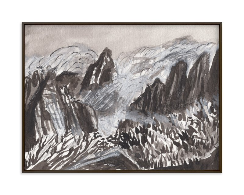 """Huangshan Mountains"" - Limited Edition Art Print by June Chang in beautiful frame options and a variety of sizes."