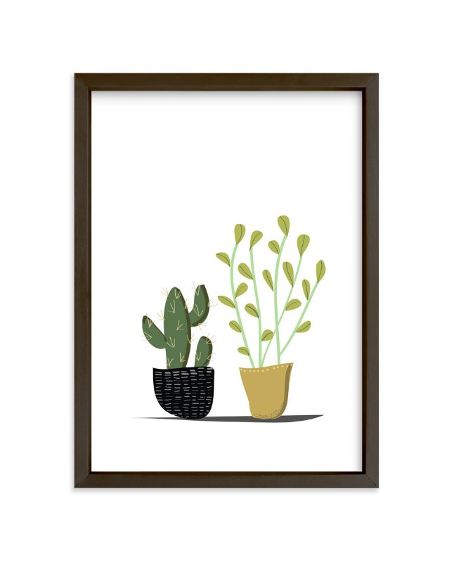 """""""POTTED"""" - Limited Edition Art Print by Rushmi in beautiful frame options and a variety of sizes."""