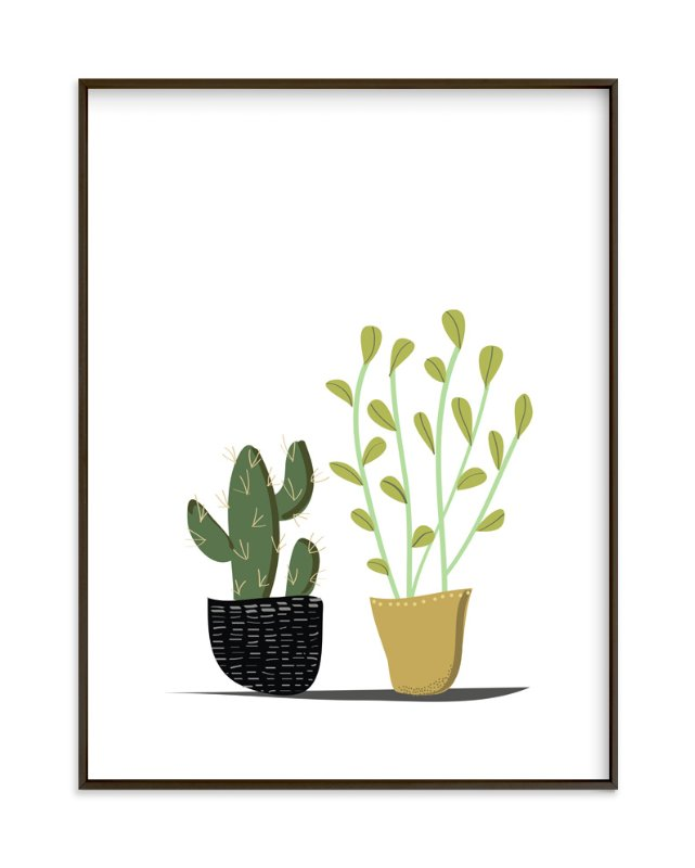 """POTTED"" - Limited Edition Art Print by Rushmi in beautiful frame options and a variety of sizes."