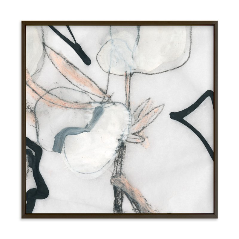 """""""Southern Cotton Double Bloom Square"""" - Limited Edition Art Print by Angela Simeone in beautiful frame options and a variety of sizes."""