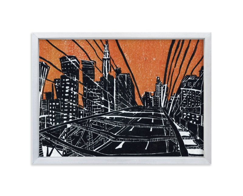 """New York Bridge"" - Limited Edition Art Print by Viktoria Eperjesi in beautiful frame options and a variety of sizes."