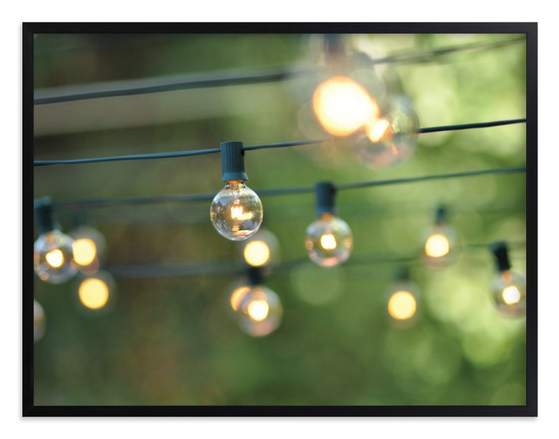"""String of Lights"" - Limited Edition Art Print by L. Daniel in beautiful frame options and a variety of sizes."