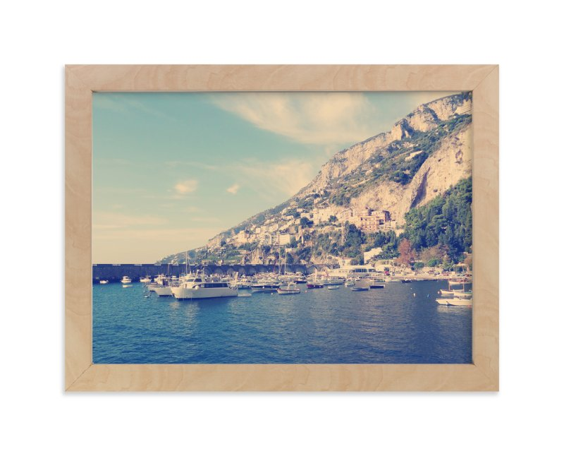 """Italian Coast"" - Limited Edition Art Print by The Rad Life Adventures in beautiful frame options and a variety of sizes."