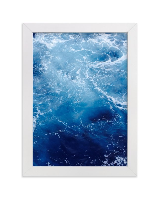 """""""Waving Blue"""" - Limited Edition Art Print by CaroleeXpressions in beautiful frame options and a variety of sizes."""