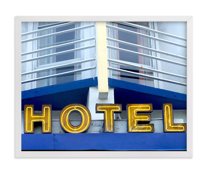 """Blue Hotel"" - Limited Edition Art Print by Jonathan Brooks in beautiful frame options and a variety of sizes."