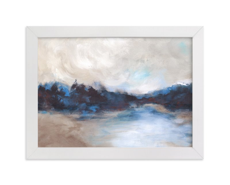 """""""Saint Mary's Lake"""" - Limited Edition Art Print by Lorent and Leif in beautiful frame options and a variety of sizes."""