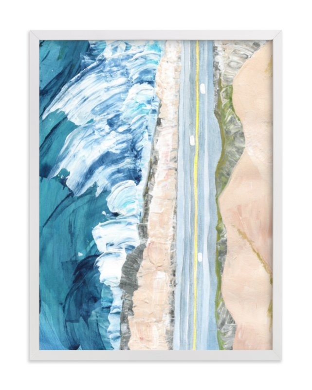 """Pacific Coast Highway"" - Limited Edition Art Print by Denise Wong in beautiful frame options and a variety of sizes."