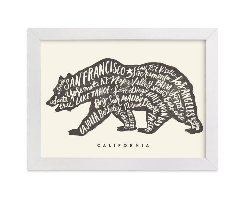 """""""California Bear"""" - Limited Edition Art Print by Griffinbell Paper Co. in beautiful frame options and a variety of sizes."""