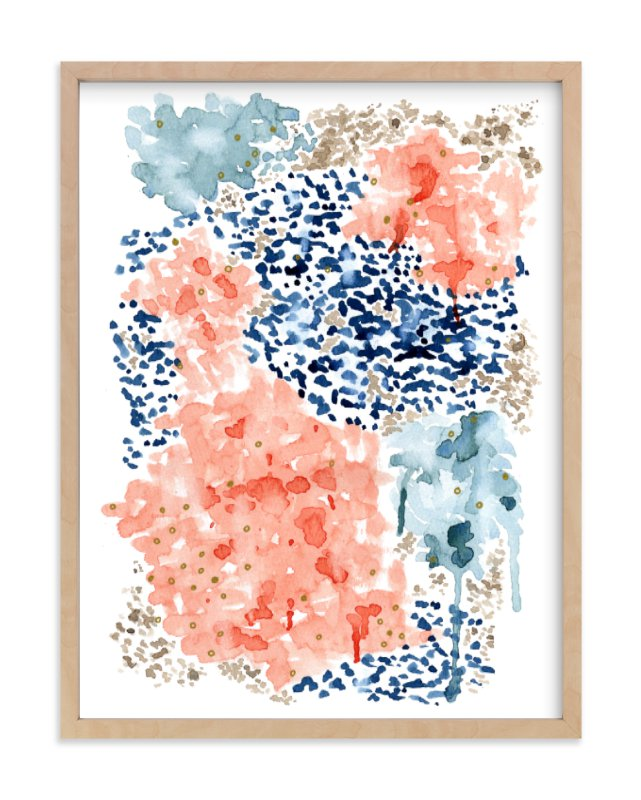 """Flutter Watercolor"" - Limited Edition Art Print by Andi Pahl in beautiful frame options and a variety of sizes."