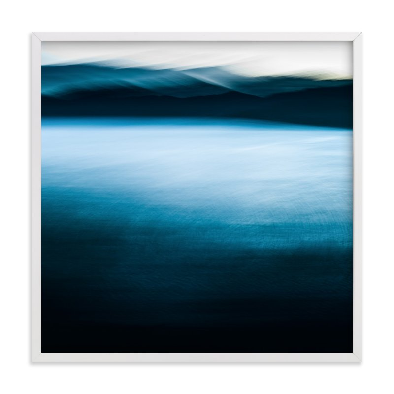 """""""lake and mountains"""" - Limited Edition Art Print by Nicolo Sertorio in beautiful frame options and a variety of sizes."""