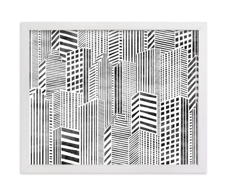 """""""Linear City"""" - Limited Edition Art Print by Daniela in beautiful frame options and a variety of sizes."""