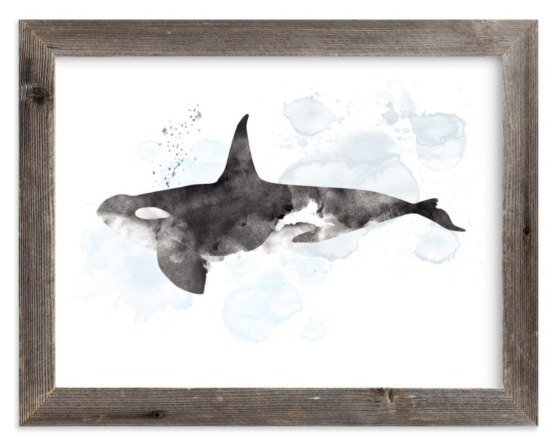 """""""Whale Series Three"""" - Limited Edition Art Print by Shirley Lin Schneider in beautiful frame options and a variety of sizes."""