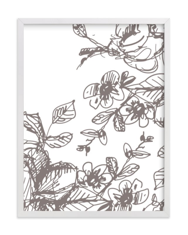 """""""Botanical Sketch 2"""" - Limited Edition Art Print by Phrosne Ras in beautiful frame options and a variety of sizes."""