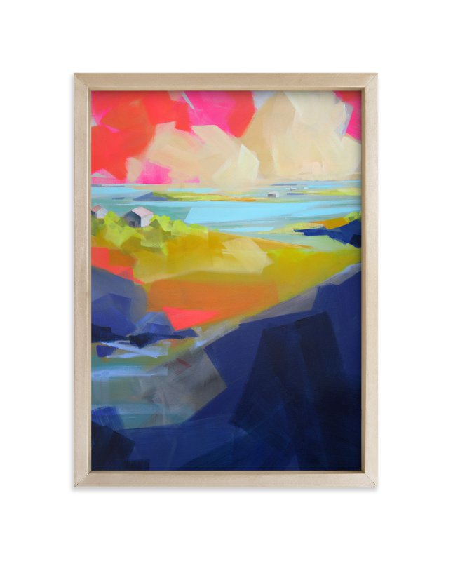 """Gone Coastal"" - Limited Edition Art Print by Jess Franks in beautiful frame options and a variety of sizes."