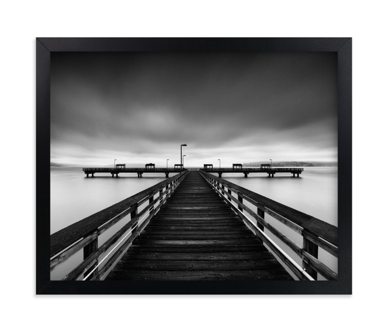 """Les Davis Pier"" - Limited Edition Art Print by J Ryan in beautiful frame options and a variety of sizes."