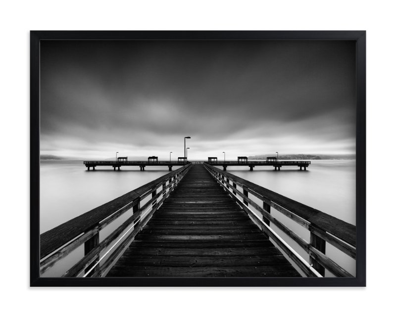 """""""Les Davis Pier"""" - Limited Edition Art Print by J Ryan in beautiful frame options and a variety of sizes."""