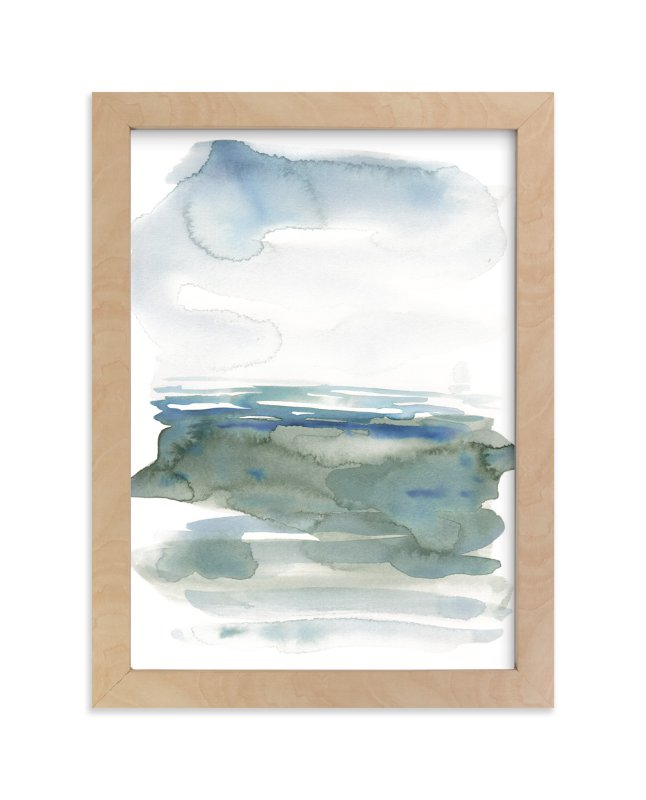 """""""ocean landscape"""" - Limited Edition Art Print by Kelly Witmer in beautiful frame options and a variety of sizes."""