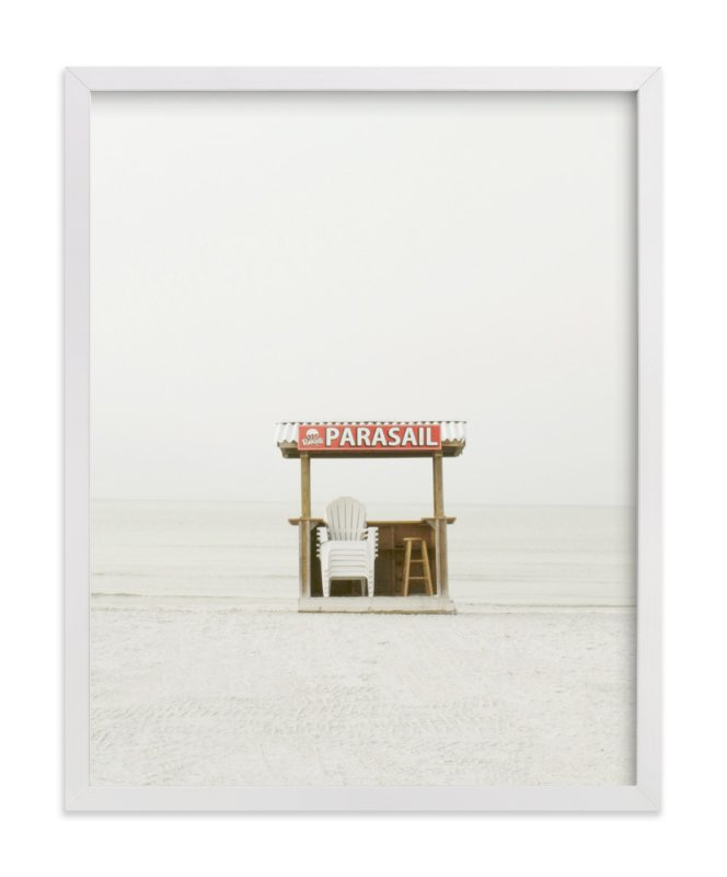 """""""The Beach"""" - Limited Edition Art Print by Baumbirdy in beautiful frame options and a variety of sizes."""