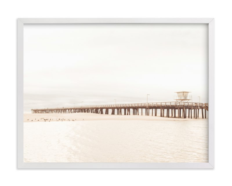 """""""Stormy Pier"""" - Limited Edition Art Print by Kamala Nahas in beautiful frame options and a variety of sizes."""