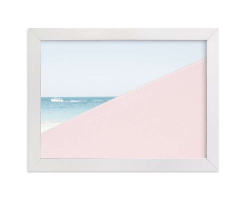 """""""Pink Umbrella"""" - Limited Edition Art Print by Kira Noel Oschipok in beautiful frame options and a variety of sizes."""