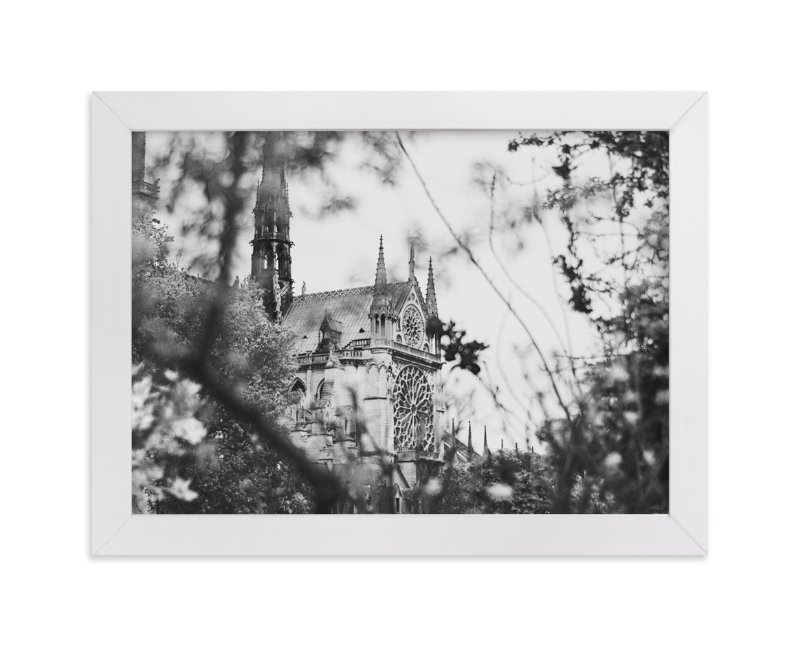 """Looking Through to the Notre Dame"" - Limited Edition Art Print by Wildfield Paper Co. in beautiful frame options and a variety of sizes."