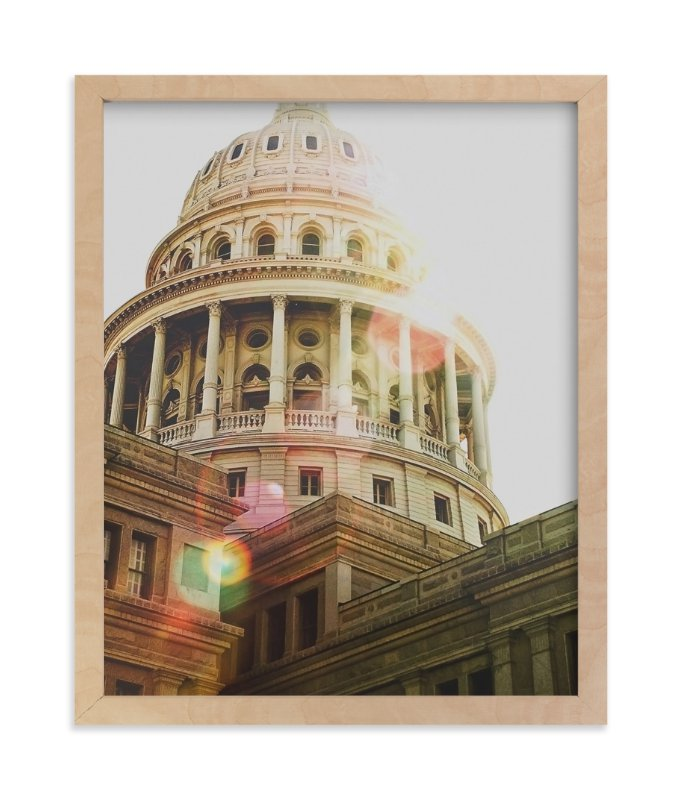 """""""Texas Capitol"""" - Limited Edition Art Print by Johanna McShan in beautiful frame options and a variety of sizes."""