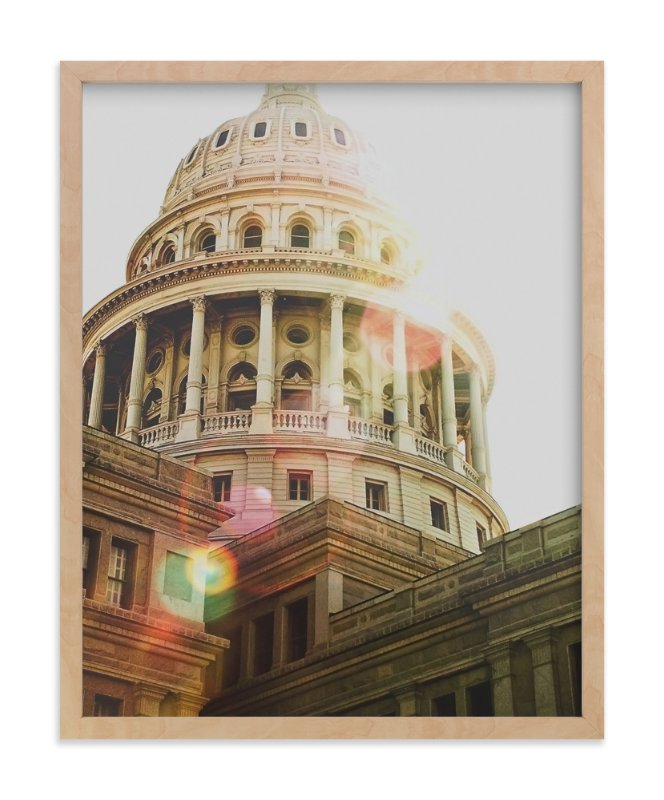 """""""Texas Capitol"""" - Limited Edition Art Print by Hanna Mac in beautiful frame options and a variety of sizes."""