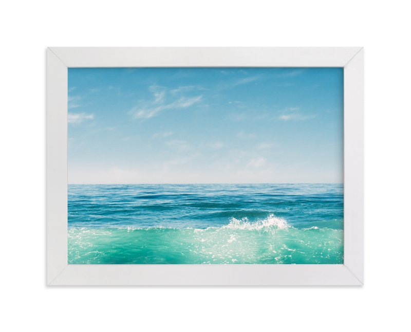 """""""Malibu Surf and Sky I"""" - Limited Edition Art Print by Kamala Nahas in beautiful frame options and a variety of sizes."""