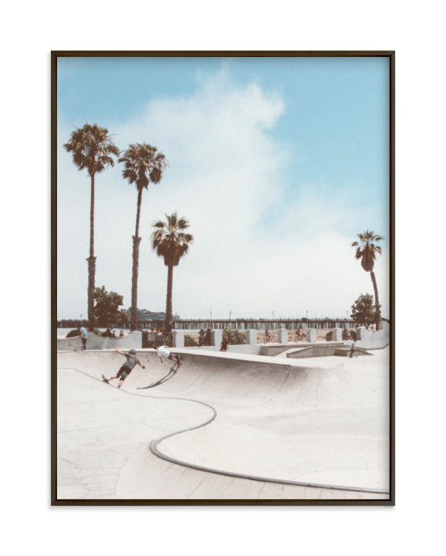 """""""Santa Barbara Skate 2"""" - Limited Edition Art Print by Kamala Nahas in beautiful frame options and a variety of sizes."""