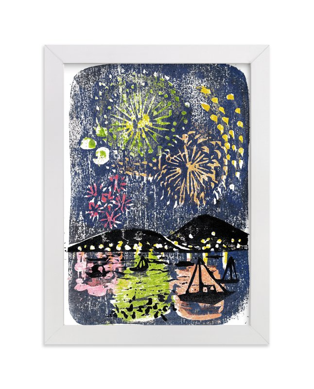 """Fireworks"" - Limited Edition Art Print by Aiko Poole in beautiful frame options and a variety of sizes."
