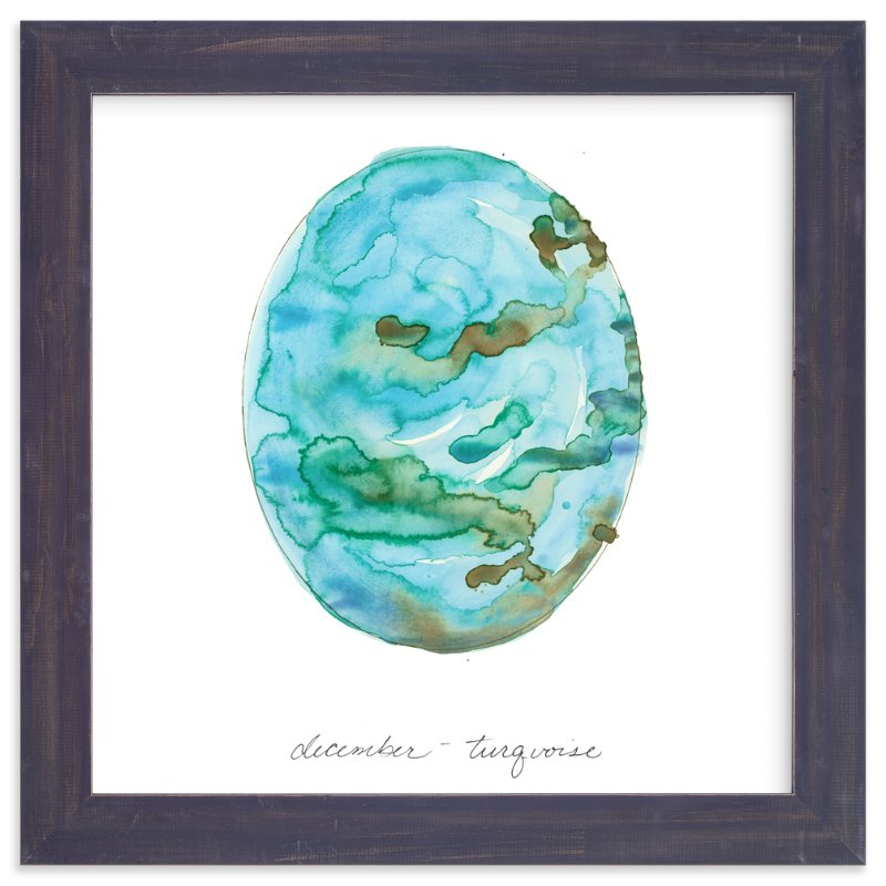 """""""December - Turquoise"""" - Limited Edition Art Print by Naomi Ernest in beautiful frame options and a variety of sizes."""