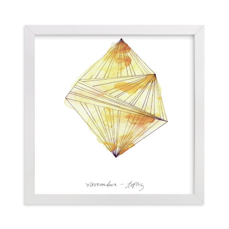 """""""November - Topaz"""" - Limited Edition Art Print by Naomi Ernest in beautiful frame options and a variety of sizes."""