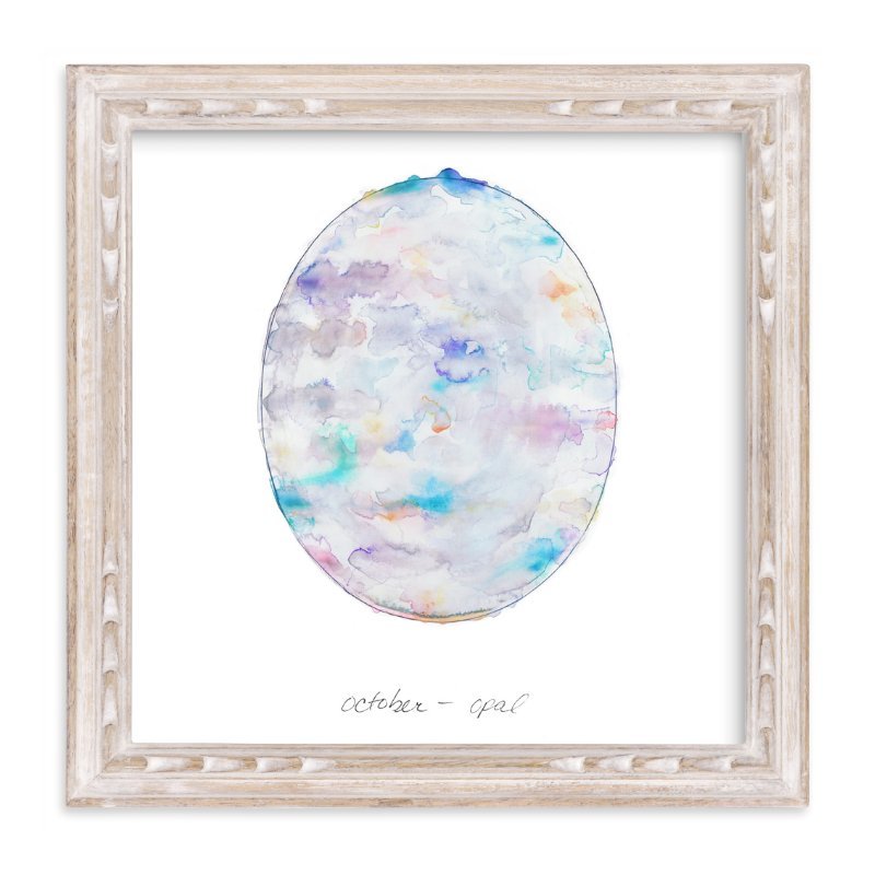 """""""October - Opal"""" - Limited Edition Art Print by Naomi Ernest in beautiful frame options and a variety of sizes."""