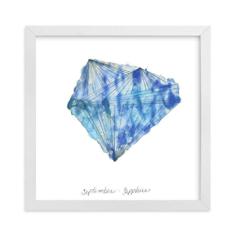 """""""September - Sapphire"""" - Limited Edition Art Print by Naomi Ernest in beautiful frame options and a variety of sizes."""