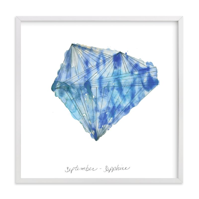 """September - Sapphire"" - Limited Edition Art Print by Naomi Ernest in beautiful frame options and a variety of sizes."