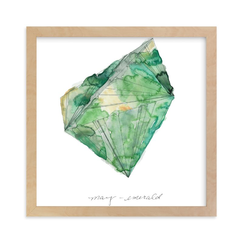"""""""May - Emerald"""" - Limited Edition Art Print by Naomi Ernest in beautiful frame options and a variety of sizes."""