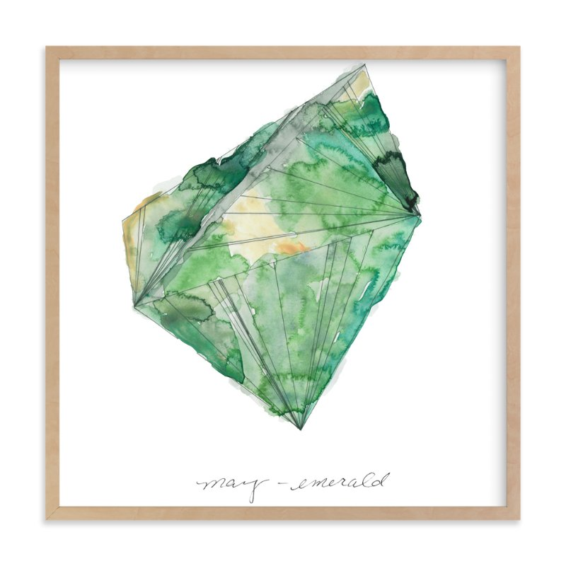 """May - Emerald"" - Limited Edition Art Print by Naomi Ernest in beautiful frame options and a variety of sizes."