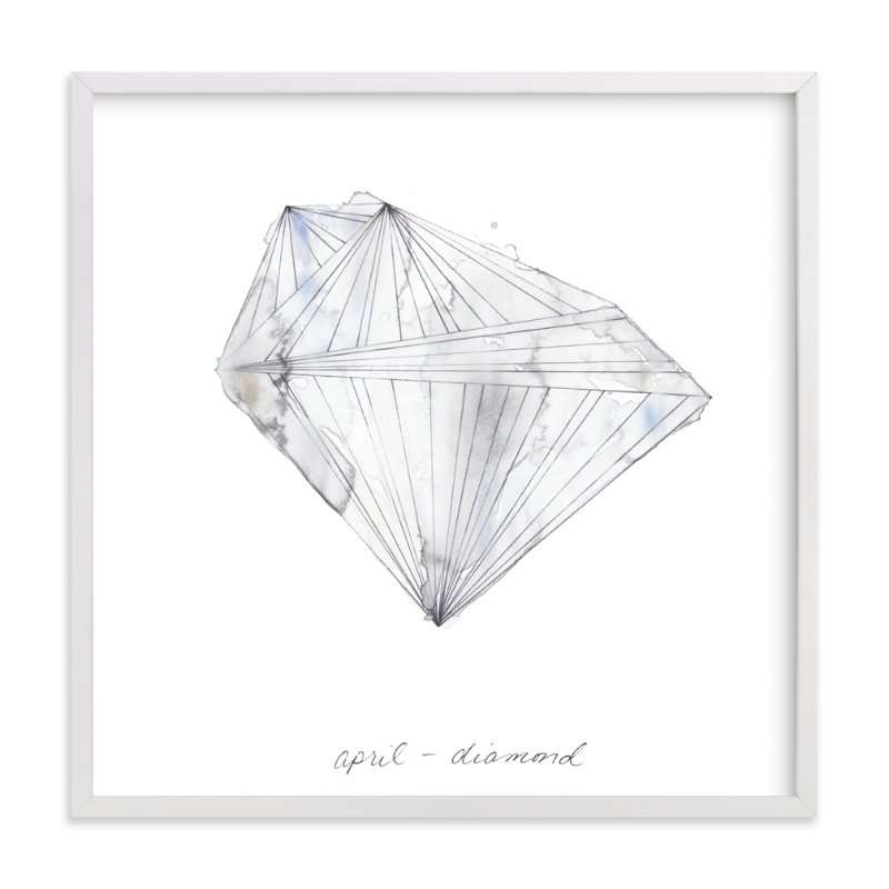 """""""April - Diamond"""" - Limited Edition Art Print by Naomi Ernest in beautiful frame options and a variety of sizes."""