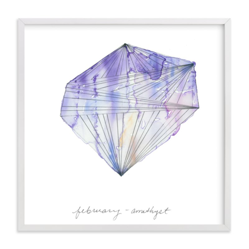 """""""February - Amethyst"""" - Limited Edition Art Print by Naomi Ernest in beautiful frame options and a variety of sizes."""