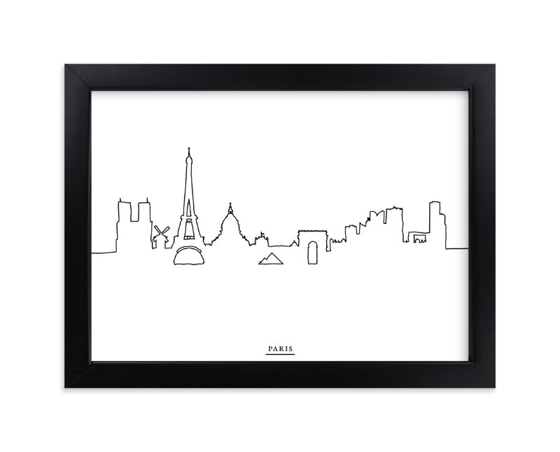 """skyline line: paris"" - Limited Edition Art Print by Cindy Lackey in beautiful frame options and a variety of sizes."