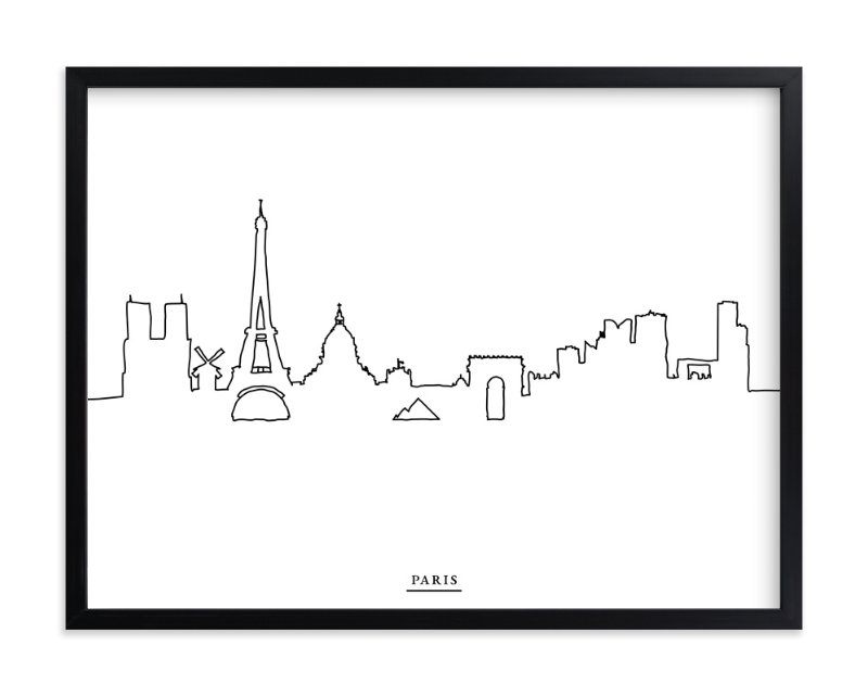 """""""skyline line: paris"""" - Limited Edition Art Print by Cindy Lackey in beautiful frame options and a variety of sizes."""