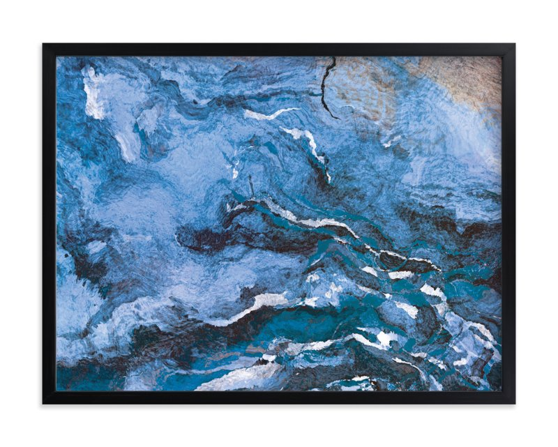 """""""Raging Sea"""" - Limited Edition Art Print by Naomi Eggers in beautiful frame options and a variety of sizes."""