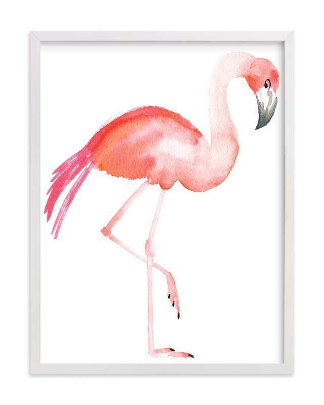 """""""Flamingo Road"""" - Limited Edition Art Print by Smudge Design in beautiful frame options and a variety of sizes."""