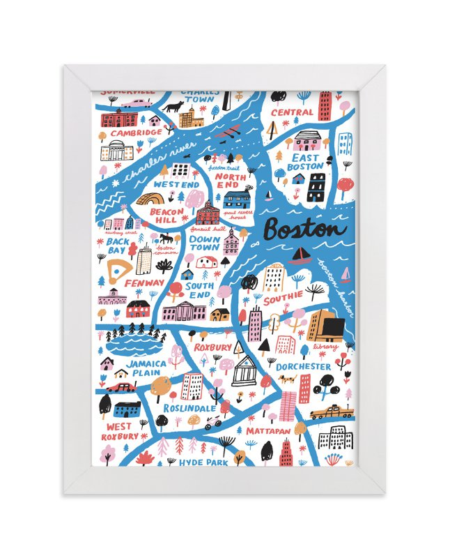 """""""I Love Boston"""" - Limited Edition Art Print by Jordan Sondler in beautiful frame options and a variety of sizes."""